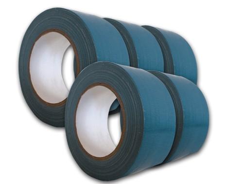 5er Set Gewebeband 50 mm breit, Farbe blau