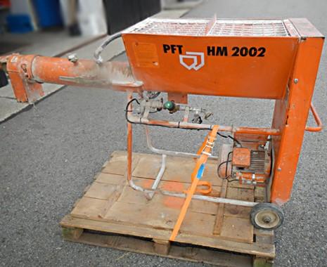 Horizontal Durchlaufmischer PFT HM 2002, gebraucht, 230V, 16 A