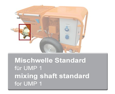Mischwelle Standard für UMP 1 Mischpumpen