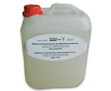 medium to lubricate for mortar hoses