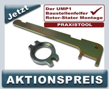 Montagehebel plus Montageflansch für Rotor Stator