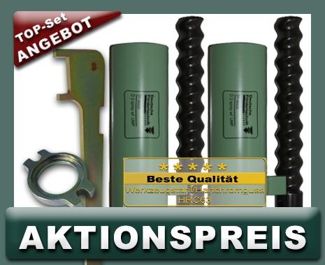 2x D3 Rotor Stator, UMP spray, weißgrün + Montageset