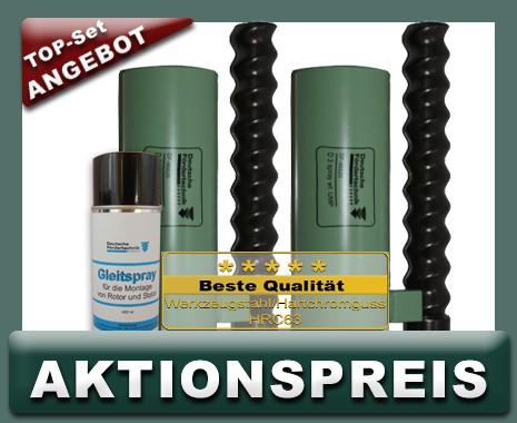 2x D3 Rotor Stator, UMP spray, weißgrün + Montagespray