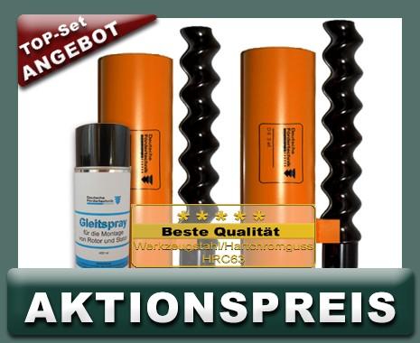2x D6-3 Rotor Stator, Standard, orange + Montagespray