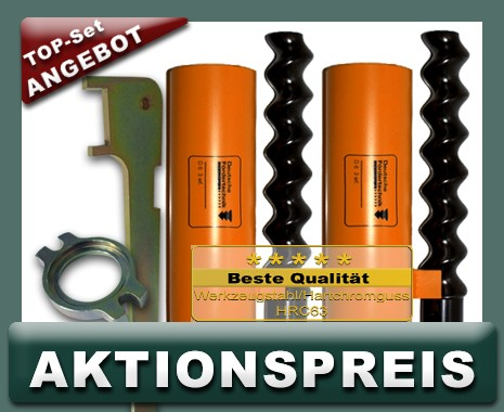 2x D6-3 Rotor Stator, Standard, orange + Montageset