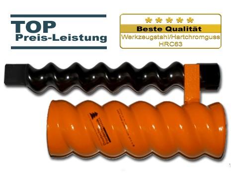 D6 3 Rotor Stator, spiral, Standard, orange mit Zapfen