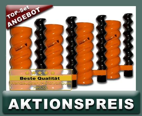 4x D6-3 Rotor Stator, spiral, orange - TOP AKTIONSSET
