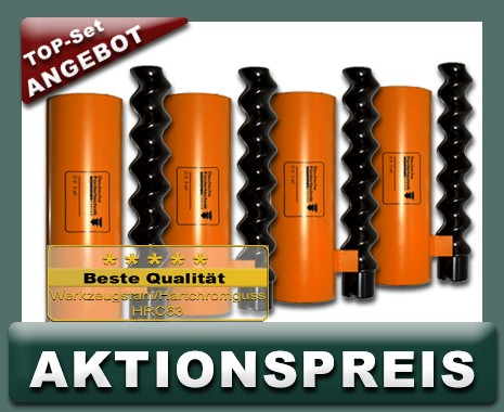 4x D6-3 Rotor Stator, Standard, orange - TOP AKTIONSSET
