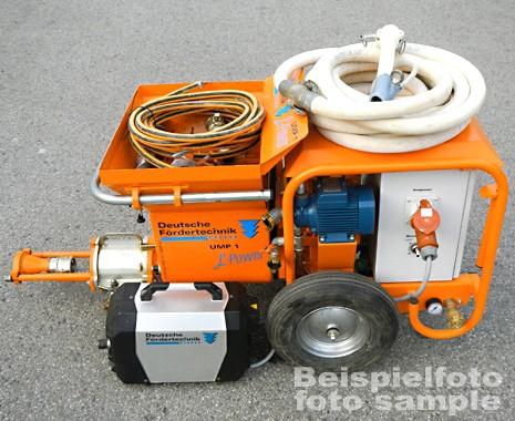 clayplaster machine, mixing pump UMP 1 L-Power second hand, built 2017